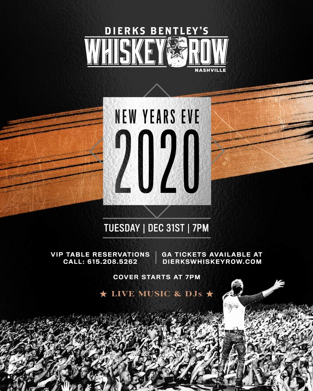 Whiskey Row Nashville 2020 NYE