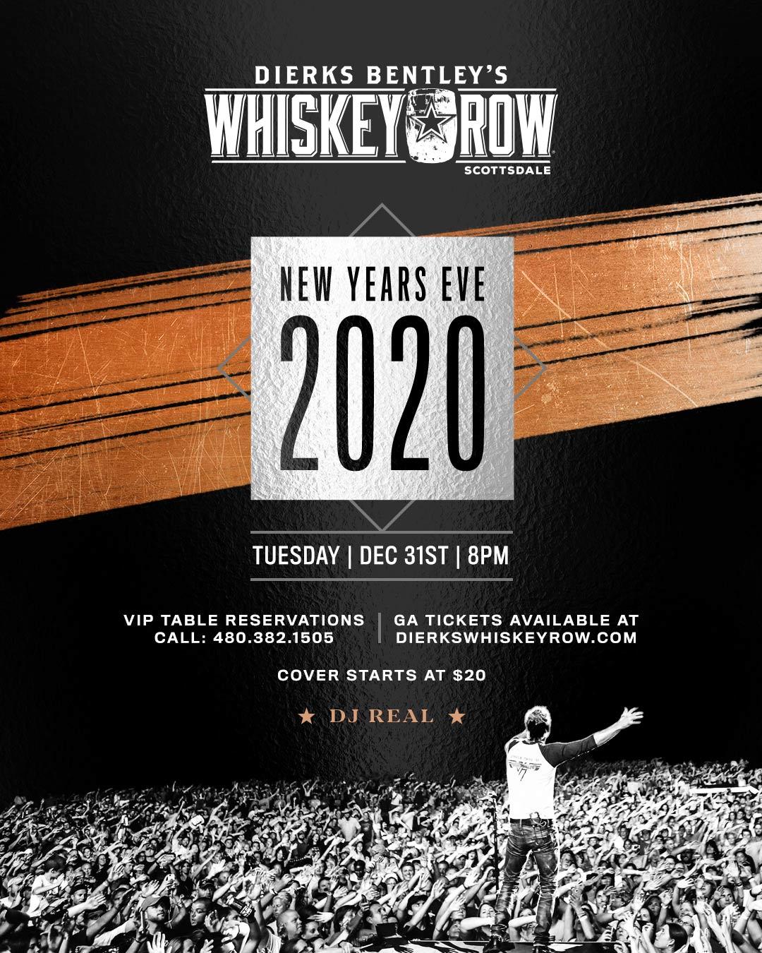Whiskey Row Scottsdale NYE 2020